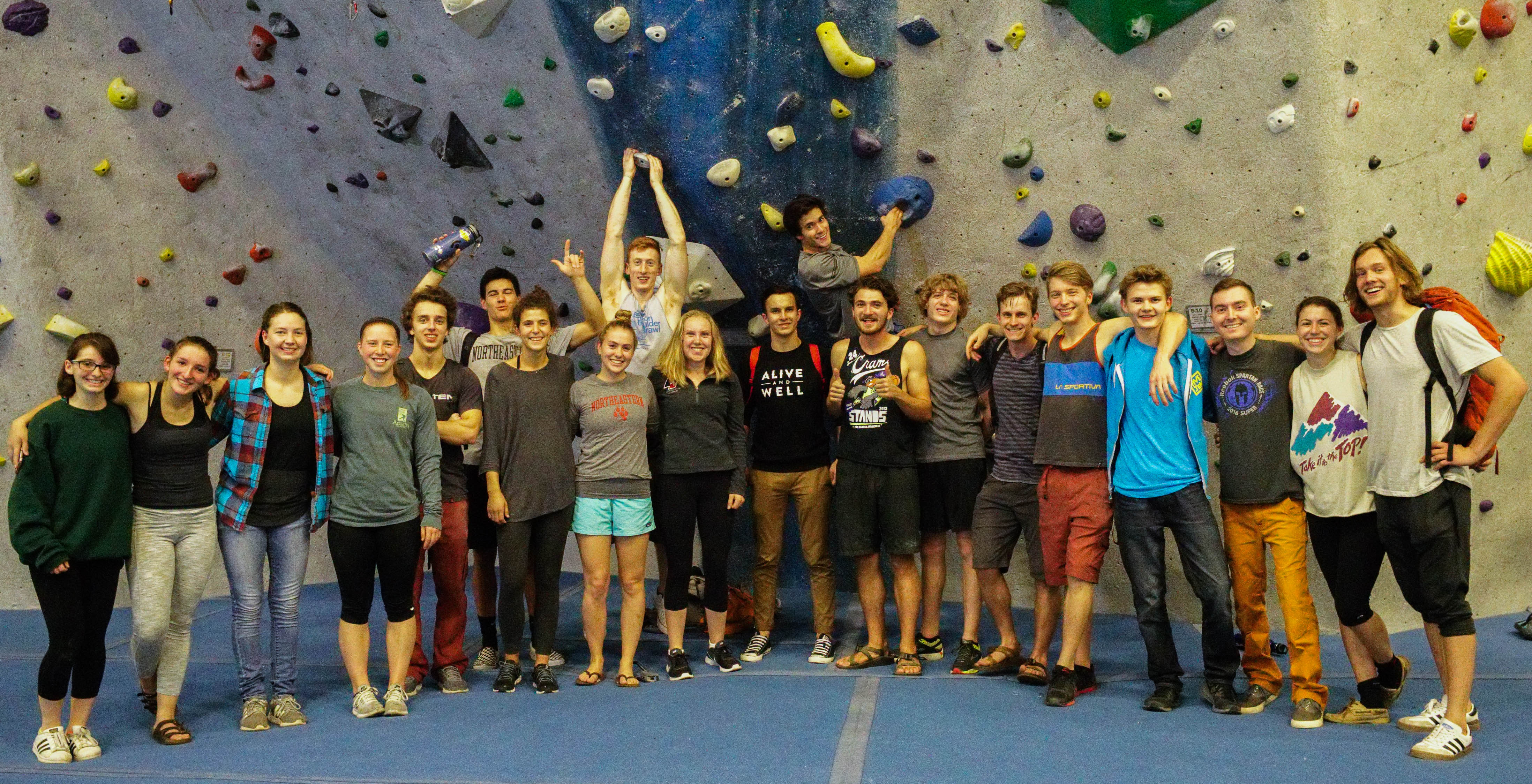 The Northeastern Climbing Team